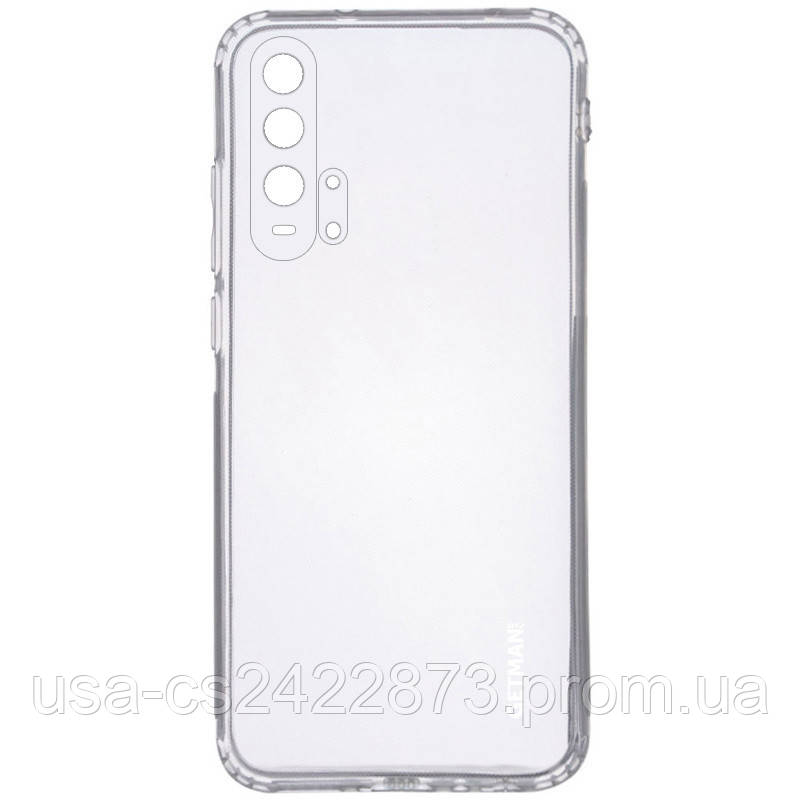 TPU чехол GETMAN Clear 1,0 mm для Huawei Honor 20 Pro