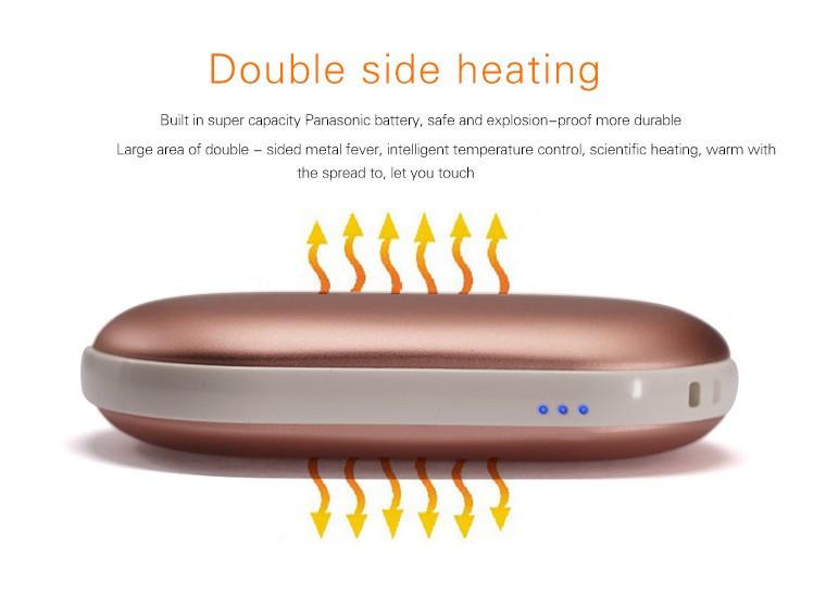 Портативное зарядное с подогревом рук Power bank heater 5200 mAh