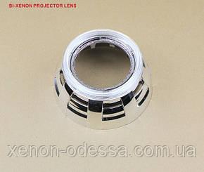 """Маска для ксеноновых линз 3.0"""" : Z113 Land Rover New c Ангельскими Глазками, фото 2"""