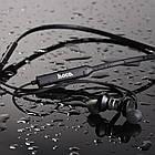 Наушники bluetooth беспроводные HOCO ES18 спортивная гарнитура вакуумные black, фото 5