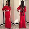 Макси платье с поясом-украшением, фото 2