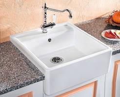 Кухонная накладная керамическая мойка Blanco PANOR 60 (белый)