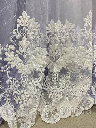 Гардина элегантная с вышивкой по низу №245488 оптом, фото 2