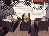 Комплект садових меблів Allibert by Keter Modena Lounge Set Brown ( коричневий ), фото 2