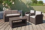 Комплект садових меблів Allibert by Keter Modena Lounge Set Brown ( коричневий ), фото 4