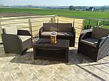 Комплект садових меблів Allibert by Keter Modena Lounge Set Brown ( коричневий ), фото 5