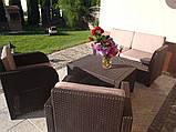 Комплект садовой мебели Allibert by Keter Modena Lounge Set Brown ( коричневый ), фото 9
