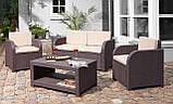 Комплект садових меблів Allibert by Keter Modena Lounge Set Brown ( коричневий ), фото 7