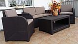 Комплект садових меблів Allibert by Keter Modena Lounge Set Brown ( коричневий ), фото 8