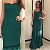 Жаккардовое макси платье с кружевом, фото 4