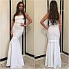 Жаккардовое макси платье с кружевом, фото 6