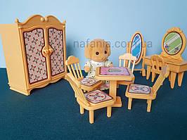 Спальня з плюшевою фігуркою для лол лпс (для лялечок до 8 см)