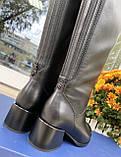 Женские зимние сапоги Respect кожа цигейка на полную голень 39, фото 4