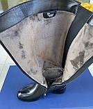 Женские зимние сапоги Respect кожа цигейка на полную голень 39, фото 5