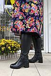 Женские зимние сапоги Respect кожа цигейка на полную голень 39, фото 7