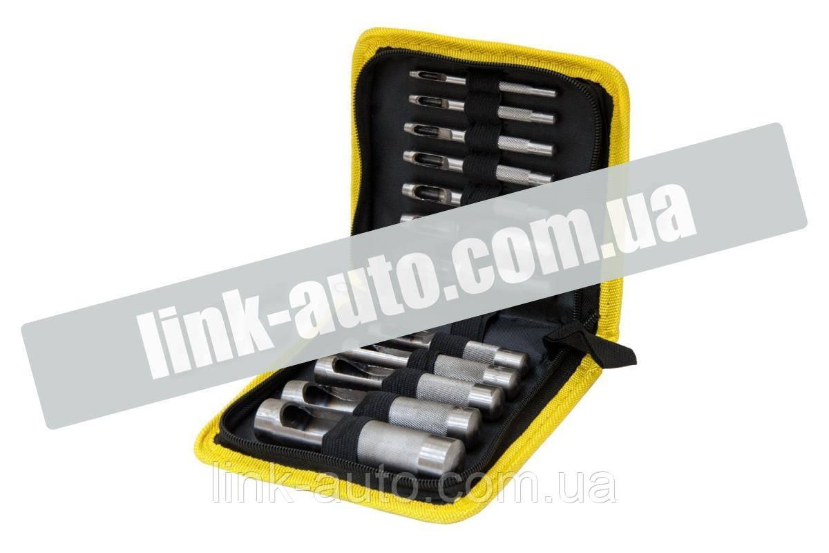 Набор просечек для вырубки прокладок 12 шт, 3-19 мм (чехол ткань) Sigma