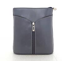 Маленькая женская сумочка. 100% кожа Италия Серый