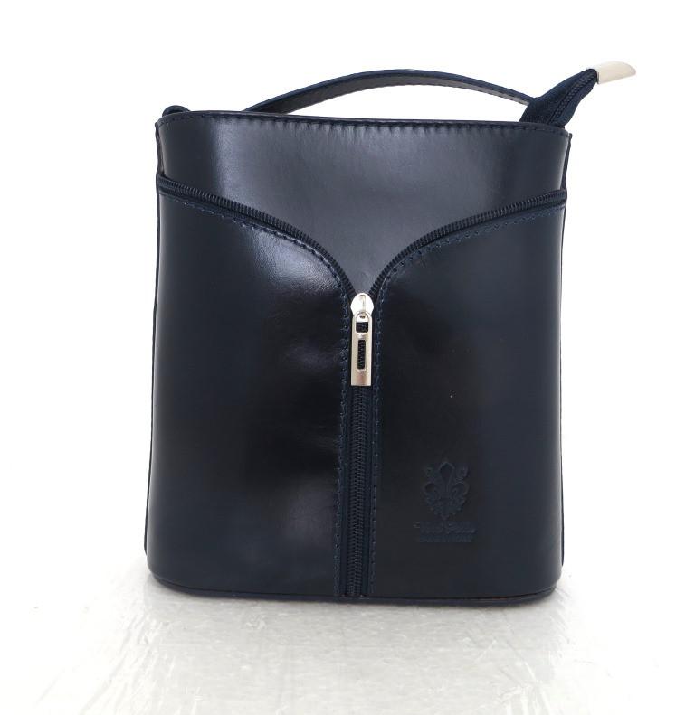 Маленькая женская сумочка. 100% кожа Италия  Темно-синий