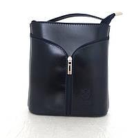 Маленькая женская сумочка. 100% кожа Италия  Темно-синий, фото 1