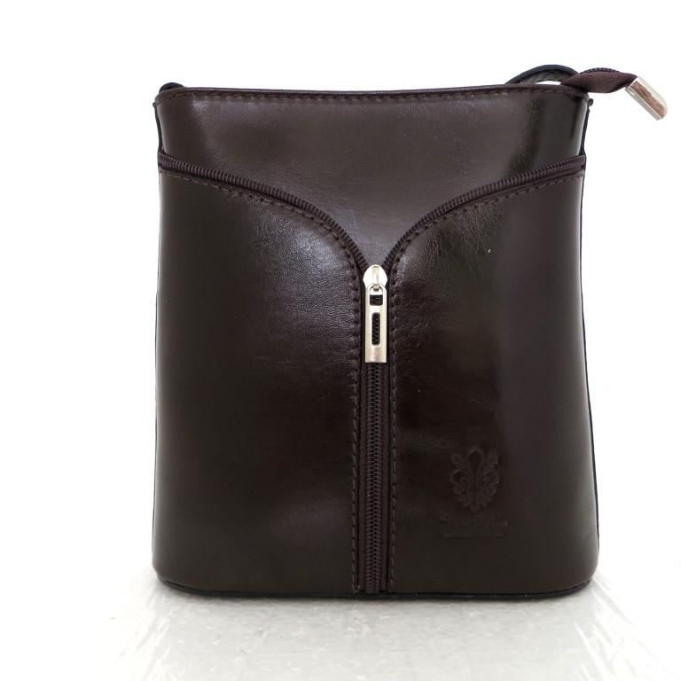 Маленькая женская сумочка. 100% кожа Италия Шоколадный