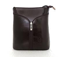 Маленькая женская сумочка. 100% кожа Италия Шоколадный, фото 1