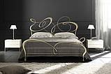 Кованая кровать GHIRIGORI от 160х190 см до 200х200 см. Ручная ковка, фото 4