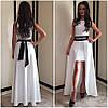 Жаккардовое платье с двойной юбкой и поясом-украшением, фото 5