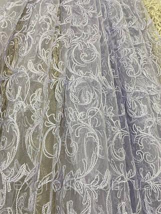 Красивый фатиновый тюль с крученой нитью №116169 оптом, фото 2