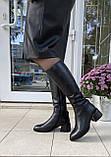 Женские зимние сапоги Respect натуральная кожа на худую голень 38, фото 6