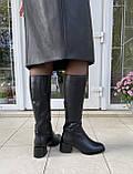 Женские зимние сапоги Respect натуральная кожа на худую голень 38, фото 7