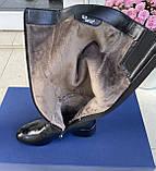 Женские зимние сапоги Respect натуральная кожа на худую голень 38, фото 4