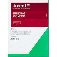 Обложка А4 пластиковая прозрачная зеленая 180мкм 50шт Axent 2720-04-А