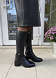 Женские зимние сапоги Respect натуральная кожа на худую голень 38, фото 8