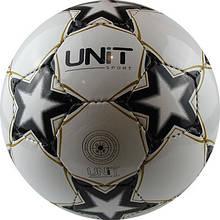 Мяч футбольный Звезда черная PVC Shine разм 5 UNIT 20143-US