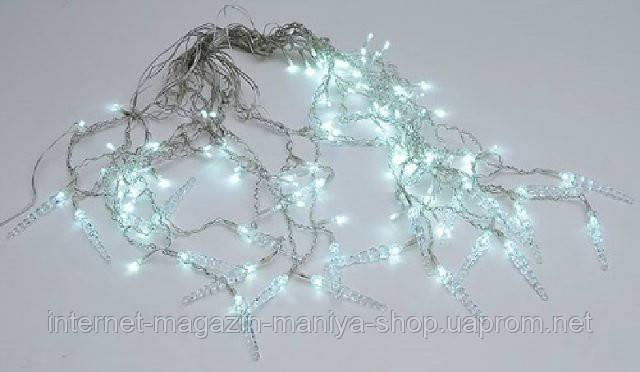 Гирлянда Занавес, 600*70см, 120LED (белые), постоянное свечение, с украшением на лампочку Сосулька. Для уличного применения.
