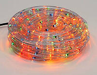 Гирлянда Дюралайт 6м, 30 лампочек/ 1м (разноцветные), прозрачная трубка, режим постоянного свечения. Для внутреннего и уличного применения.