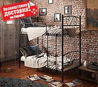 Кровать двухъярусная металлическая Виола