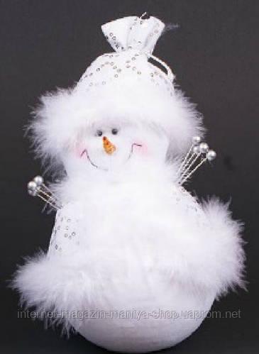 Мягкая новогодняя игрушка Снеговик, 23см
