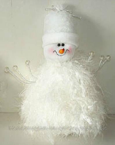 Мягкая новогодняя игрушка Снеговик, 27см