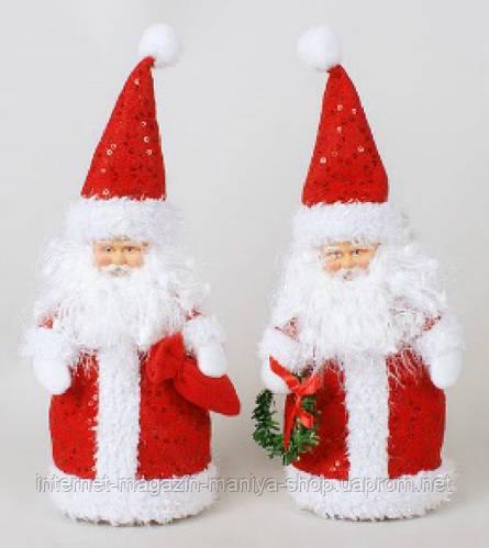 Мягкая новогодняя игрушка из ткани Санта, 29см