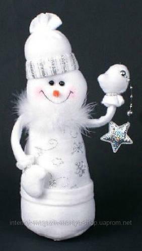 Мягкая новогодняя игрушка Снеговик, 26см