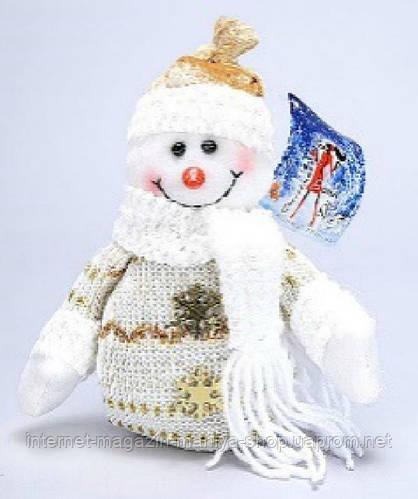 Новогодняя мягкая игрушка Снеговик, 26см
