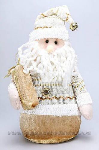 Новогодняя мягкая игрушка Санта, 33см