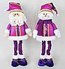 Новогодняя мягкая игрушка Снеговик, Санта 48см