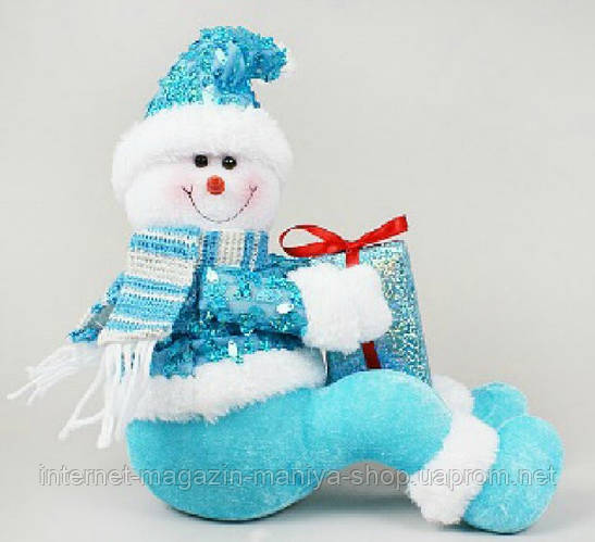 Новогодняя мягкая игрушка Снеговик, 20см