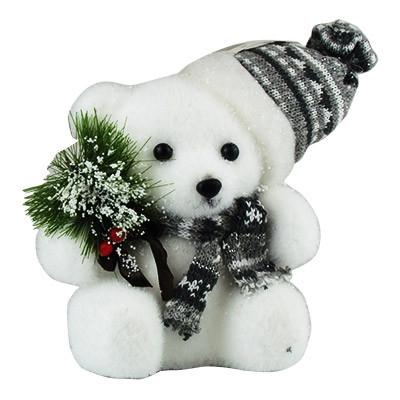 Новогодняя фигура Медвежонок14см 5-122 (6263)