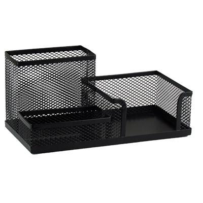 Подставка настольная сетка металл 20*10 см на 3 отделения черная 5-462 9-528 (23584)