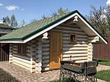 Деревянный дом, баня из бревна, фото 5