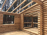 Деревянный дом, баня из бревна, фото 6