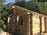 Деревянный дом, баня из бревна, фото 9